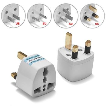 300pcs International US EU Plug Adapter Universal EU AU UK To US Australian Travel Converter Plug Adapter AC Power Cord Soeckt