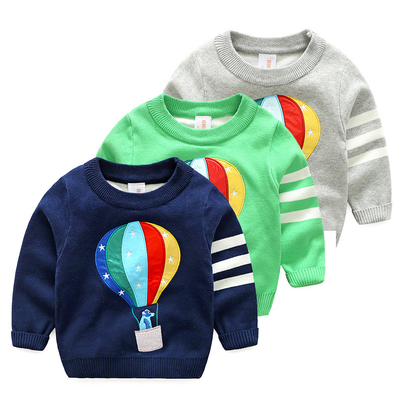 New 2018 Boys Sweaters Balloon Printing Boys Pullover Knit Sweaters Spring&Autumn Children Clothing Kids Clothes Tops spring autumn children clothing kids clothes boys