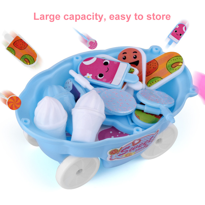 1 Set Children Kids Girl Toy Trolley Role Play Mini Simulation Birthday Gift Fun Game YJS Dropship in Groceries Toys from Toys Hobbies