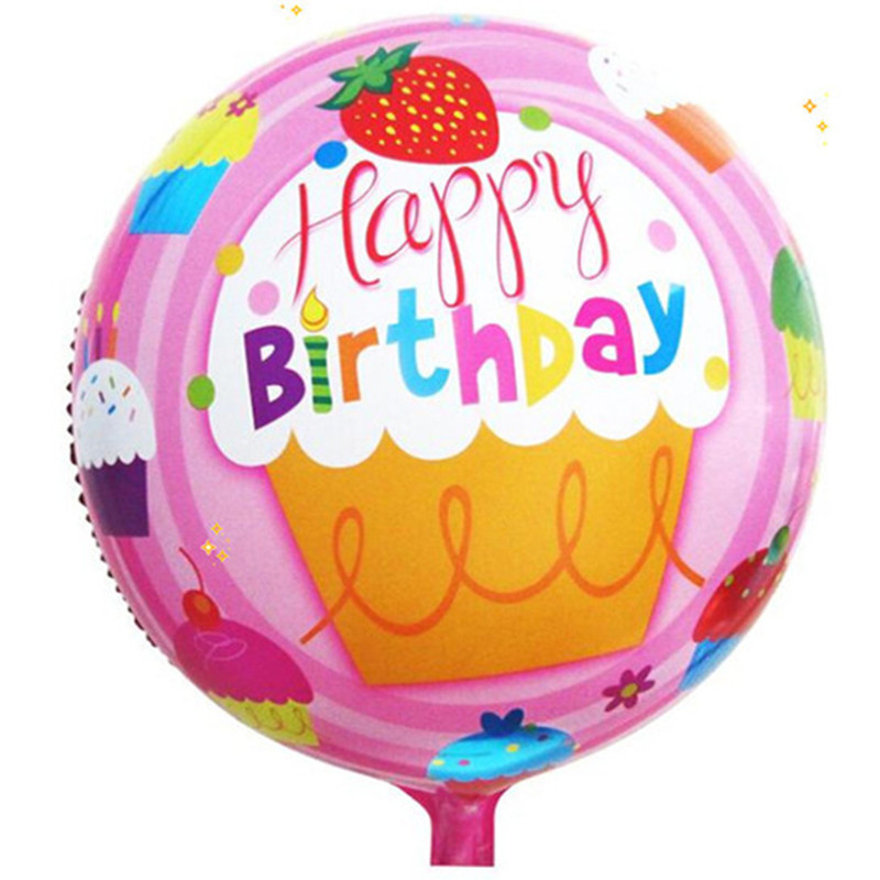 18 inch round aluminum balloons Happy Birthday balloons decorated children's toy