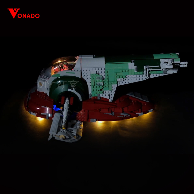 Led Light Set Compatible For Lego 75060 Star Wars UCS Slave No.1 <font><b>05037</b></font> Building Blocks Bricks Toys (only light+Battery box) image