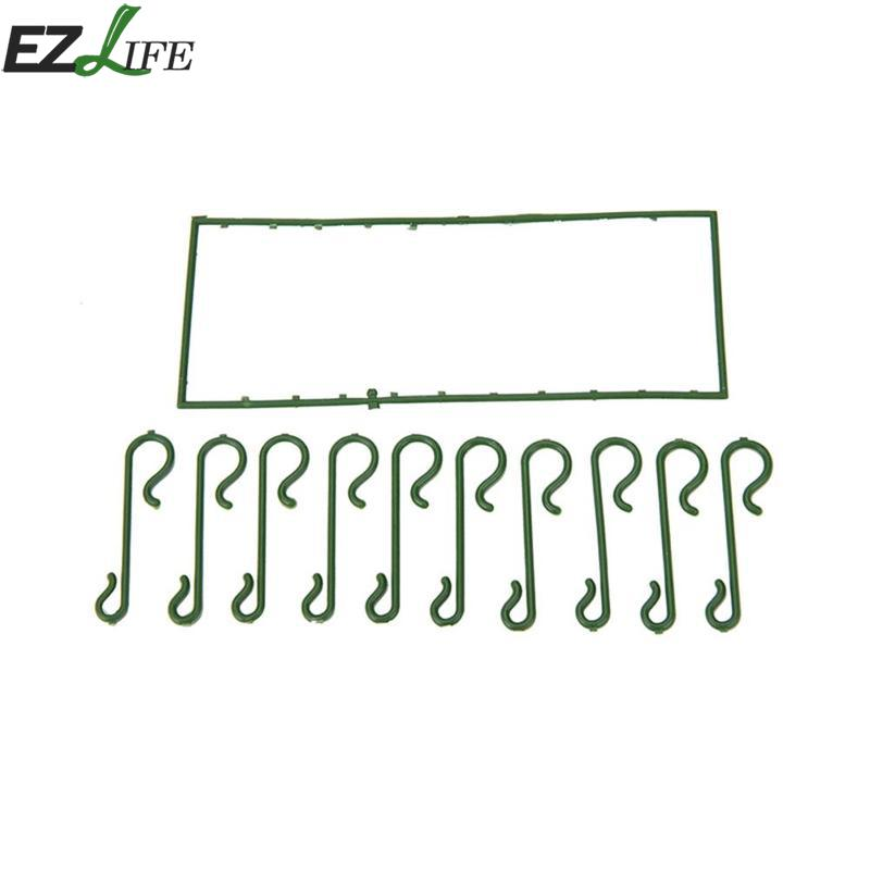 100pcs/lot Green S Shaped Hanging Hooks for Christmas Tree Decoration Wire Xmas Decoration Ornaments Supplies Xmas Decor