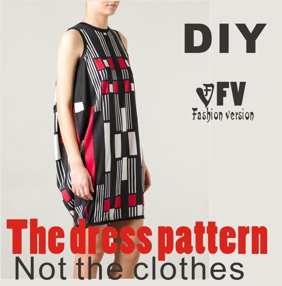 ⊱Ropa DIY El vestido Vestidos de Patrón de Costura de corte dibujo ...