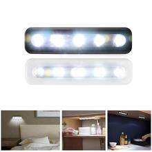 Touch-sensitive Control 5Pcs LED Under Cabinet Cupboard Car Night Light Lamp LIGHT