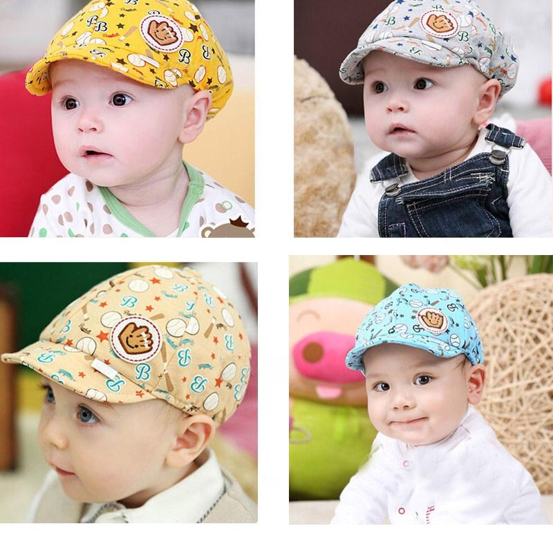 Hot Baby Kids Stripe Beret Cap Boy Girl Infant Toddler Peaked Baseball Flat Hat