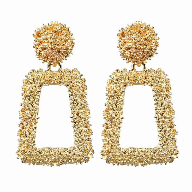 Ufavoirte small Vintage Earrings for women gold color Geometric statement earring metal earing Hanging fashion jewelry trend