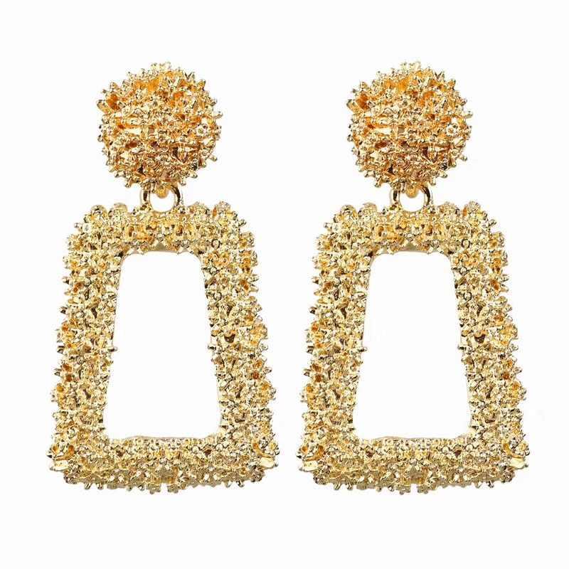 Ufavoirte маленькие Винтажные серьги для женщин золотой цвет геометрический Эффектные серьги металлические серьги Висячие модные ювелирные изделия тренд