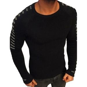 Image 3 - Мужской трикотажный свитер с круглым вырезом, с длинным рукавом