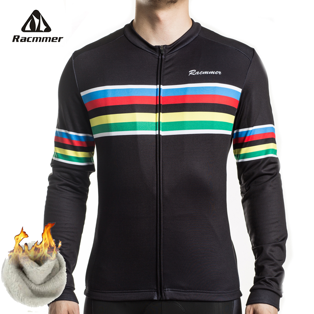 Racmmer 2019 PRO FIT Thermal Fleece Cycling Jersey Winter Men Bicycle Clothing Long Sleeve Champion Bike Shirt Maillot CiclismoRacmmer 2019 PRO FIT Thermal Fleece Cycling Jersey Winter Men Bicycle Clothing Long Sleeve Champion Bike Shirt Maillot Ciclismo