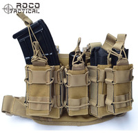 ROCOTACTICAL Military Drop Leg Bag Leg Rig With Attached Magazine Pouch Torch Holder Leg Thigh Rig