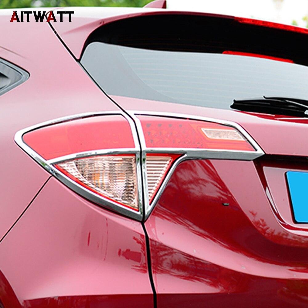 Pour Honda Vezel HR-V HRV 2014 2015 2016 ABS Chrome extérieur feu arrière feu arrière couvercle garniture cadre 4 pièces accessoires de voiture