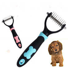 1pc PC Dog Pet Cat Fur Dematting Grooming Deshedding Trimmer Tool Comb Brush 10 Blade