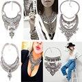 Dvacaman verão estilo hot sales maxi collar bib choker colares declaração & pingentes de moda do metal do vintage mulheres jóias 9773