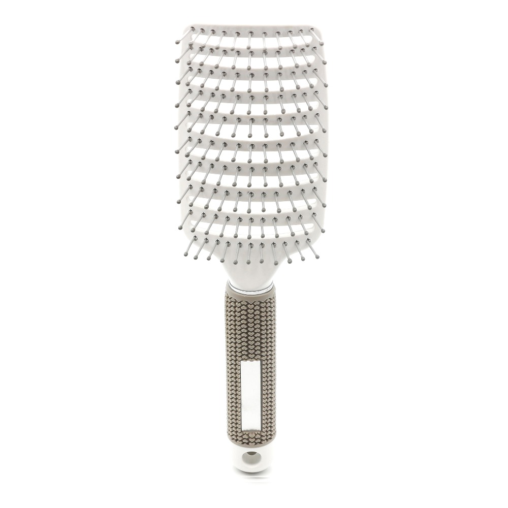 salon hairdressing Anti-static Curved Vent Hair Brush Barber Paddle Hair Brush for professional use 2