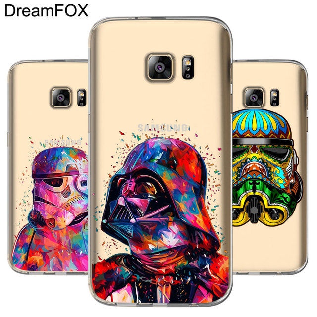 quality design 2de93 2dbd1 US $1.56 7% OFF|DREAMFOX L090 Star Wars Soft TPU Silicone Case Cover For  Samsung Galaxy Note S 3 4 5 6 7 8 9 Edge Plus Grand Prime-in Fitted Cases  ...