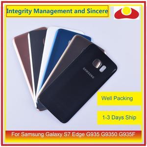 Image 2 - 50 unids/lote para Samsung Galaxy S7 Edge G935 G9350 G935F SM G935F carcasa batería puerta para parabrisas trasero funda carcasa chasis