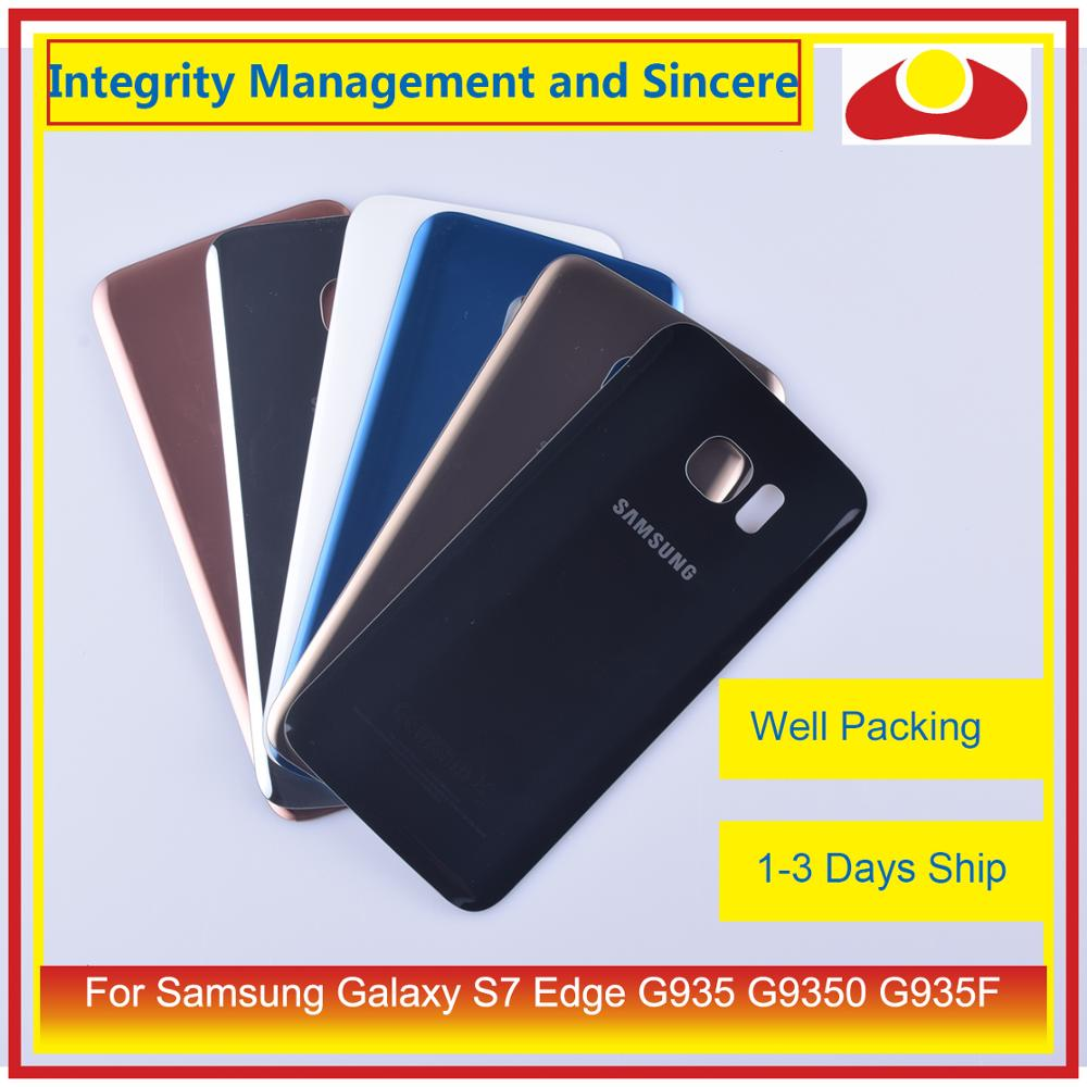 Image 2 - 50Pcs/lot For Samsung Galaxy S7 Edge G935 G9350 G935F SM G935F Housing Battery Door Rear Back Glass Cover Case Chassis Shell-in Mobile Phone Housings & Frames from Cellphones & Telecommunications