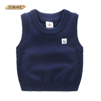 New 2017 Spring Autumn Cotton Baby Knitted Cardigan Boy S O Neck Sweater Vest Kids Waistcoat