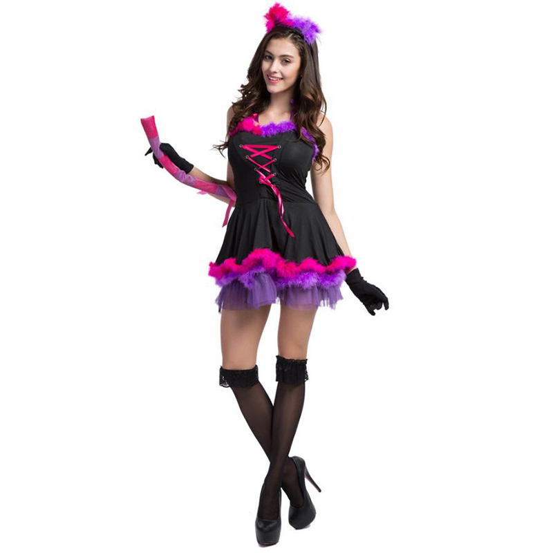 Women Cute Cat Girl Costumes Sexy devil Cosplay Costume for Halloween Party Fancy Dress Sexy Cat women Cosplay