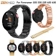 цена на watch Strap for smartwatch Wrist band Metal Stainless Steel Watch Band Strap bracelet For Garmin Forerunner 220 230 235 630 620