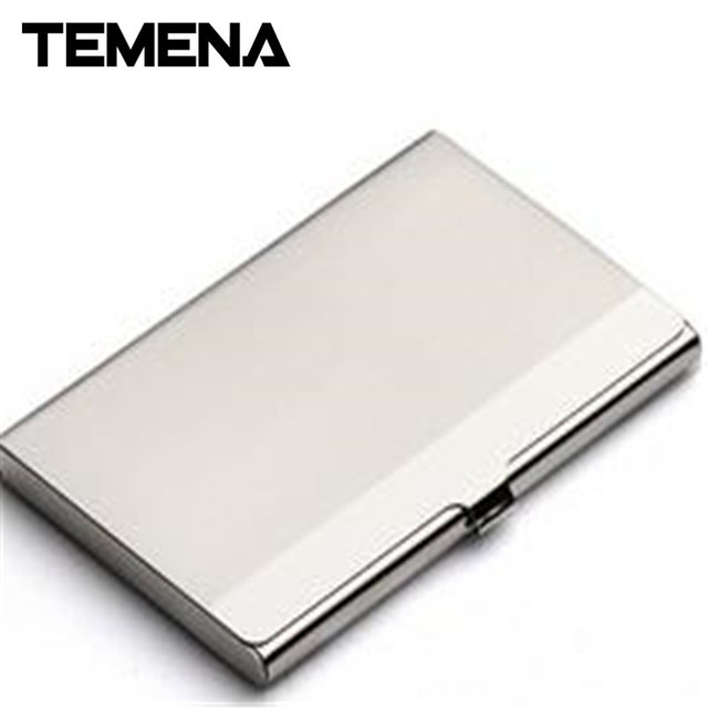 Temena stainless steel hasp unisex business credit card holder case temena stainless steel hasp unisex business credit card holder case protect id cards metal travel wallet reheart Choice Image