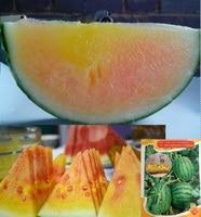 1 Original Pack 100pcs Super quantity Rainbow Watermelon Seeds orange flesh sweet watermelon Seeds, high quality fruit seeds