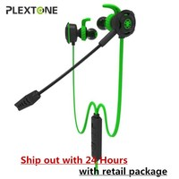 Plextone G30 Game Earphone Bass Headset Gamer Professional Gaming Headphones Pluggable Microphone V2 Earbuds Noise Cancelling