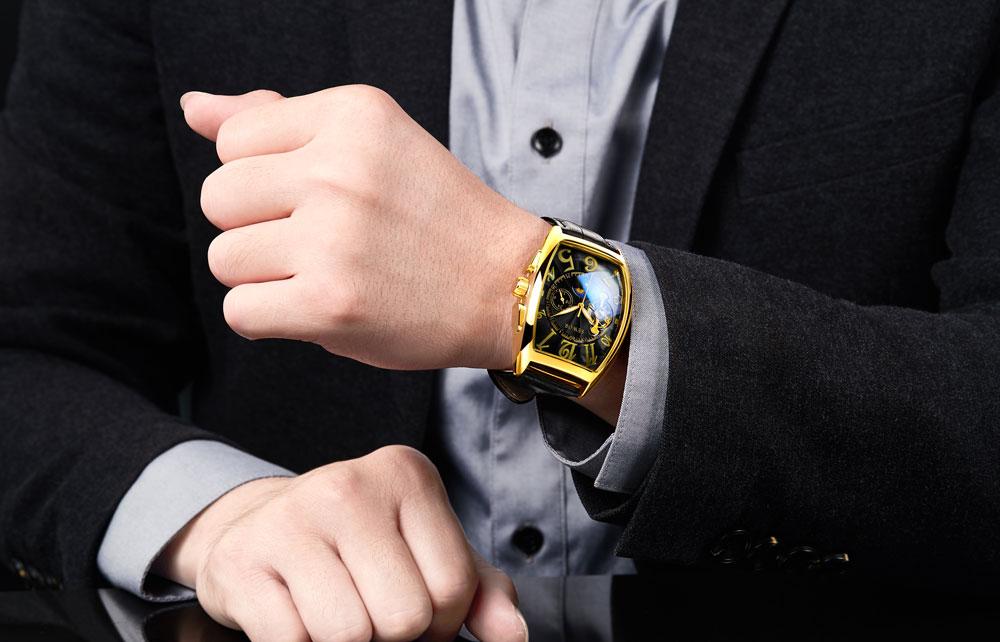 HTB14mXFXvvsK1Rjy0Fiq6zwtXXa2 SEWOR New Black Gold Tonneau Tourbillon Automatic Mechanical Watch Men Genuine Leather Strap Men Clock Male Men Wristwatches