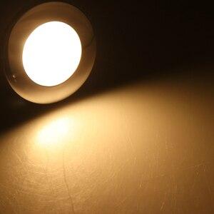 Image 2 - 1 adet LED yuvarlak çatı tavan iç kubbe ışık lambası tekne yat araba RV 3000k sıcak hafif paslanmaz çelik