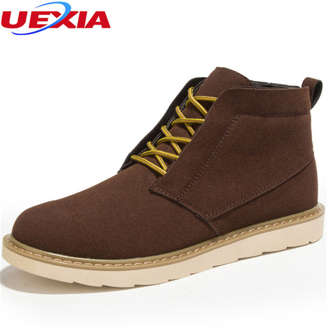 9f54027d119 US $48.0  Men Boots Cow Suede Leather Men's Oxford Ankle Shoes Party Top  Quality Flats Fashion Working Resisting Casual Shoes Men Footwear-in Basic  ...