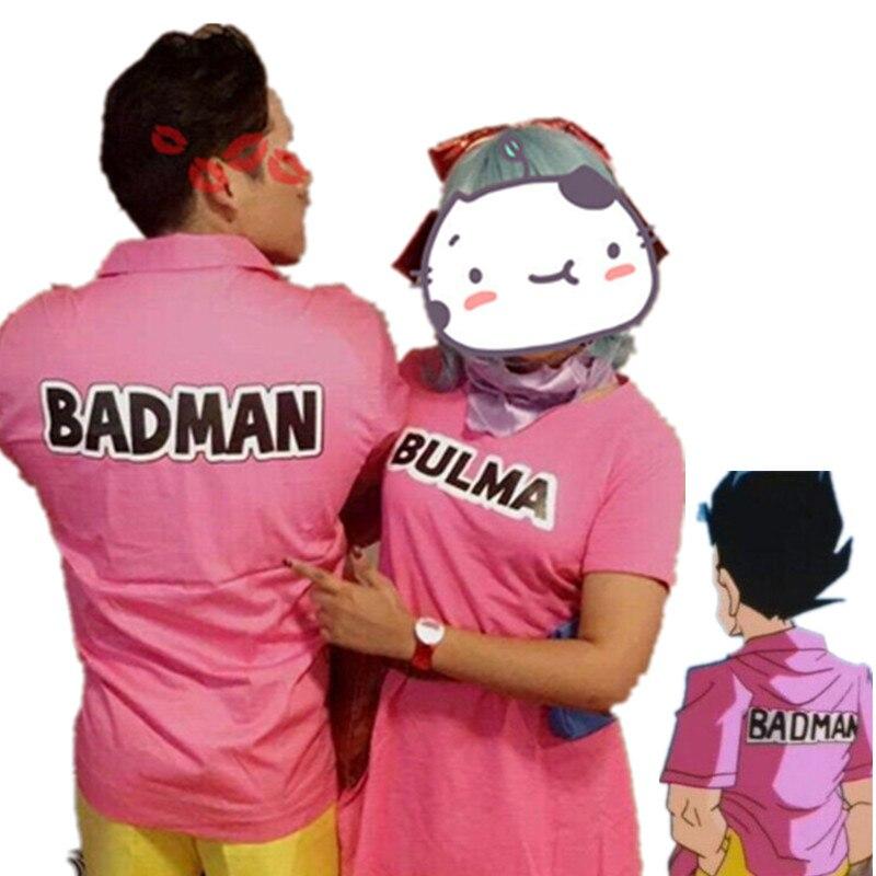 Dragon Ball Z BADMAN Shirts Vegeta Halloween Mens Cosplay Tops T shirt