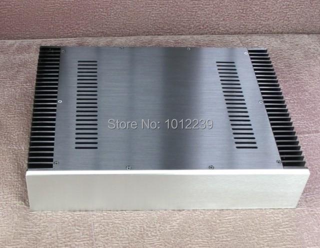 где купить  hot sale power supply chassis/New BZ4309 aluminum amplifier chassis  Both sides with heatsinks  по лучшей цене