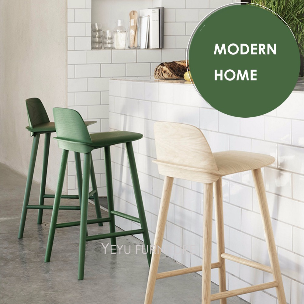 Modern Design Solid wooden or Plastic and Metal Bar Stool, fashion design counter stool, Colorful solid wooden bar chair 2PC