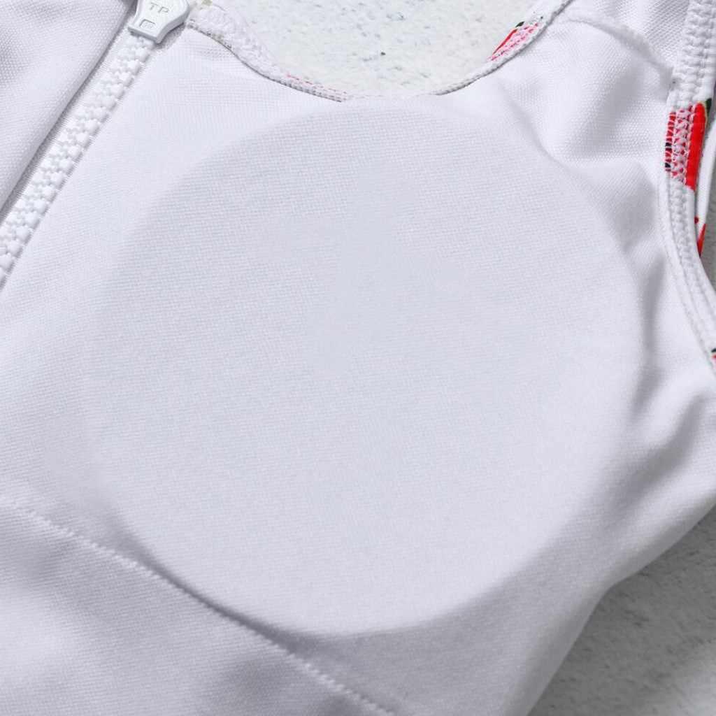 Купальники женские на молнии арбуз фруктовый принт бикини с открытой спиной купальник, купальник монокини высокая Талия бикини пляжное платье