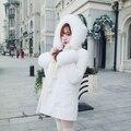 Принцесса сладкий лолита юбка Bobon21 эксклюзивный дизайн настоящее снег фокс шерсти 80% шерстяное пальто мочевого пузыря пользовательские 25 дн. C1318
