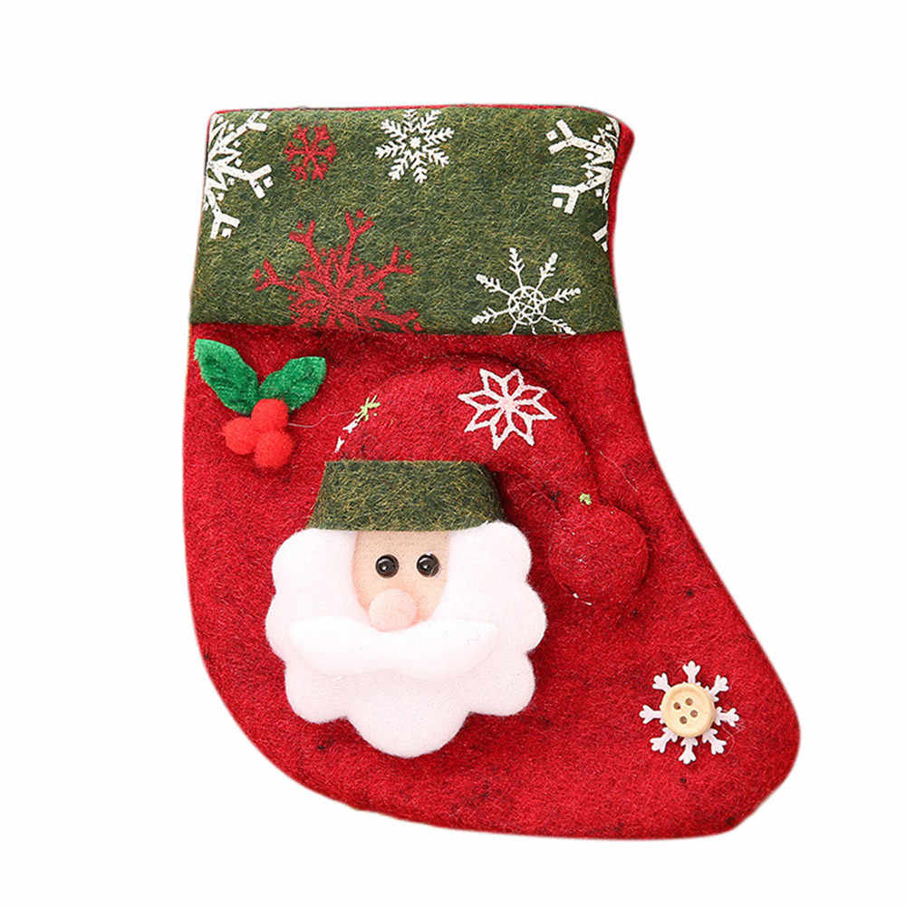 9d787ff4a Detail Feedback Questions about 2018 Fashion Stockings Socks Santa Claus  Candy Gift Bag Xmas Hanging Decor Christmas New Year on Aliexpress.com