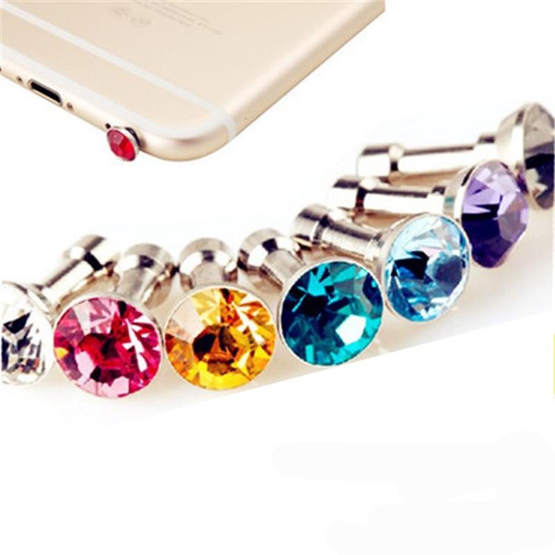Mobile Accessories Earphone Dust Proof Plug 3.5mm Headphone Jack Plug 5PCS a Bag Diamond JYS1 For iPhone Para Celular