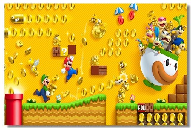 Custom Canvas Wall Decals Super Mario Bros 2 Poster Luigi Koopalings ...