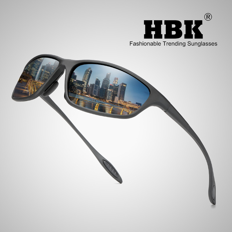HBK 2019 Polarized Outdoor sports Sunglasses Goggles Men Driving Fishing Running Travel Sun Glasses Oculos De Sol UV400 PM0062