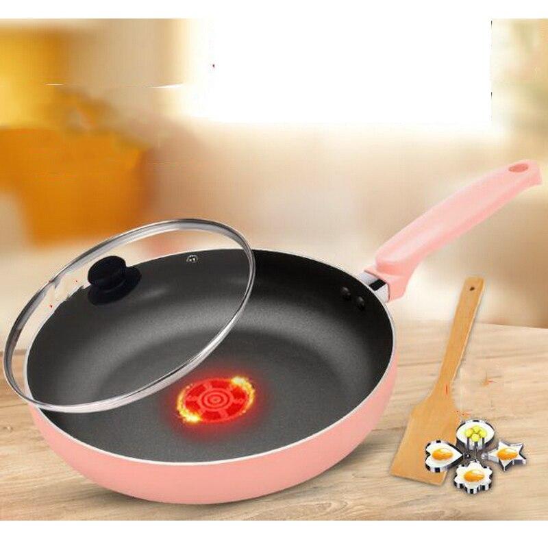 230602/poêle rouge feu/poêle antiadhésive poêle oeuf frit pas de poêle frite cuisinière à Induction universelle 26 cm