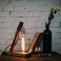 Чердак старинные промышленного дерева базовая таблица чердак настольная лампа для чтения чердак украшения дома спальня ночное освещение E27 40 Вт