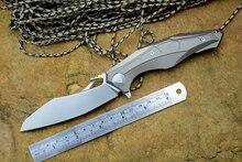 Dmitry sinkevich HACER 0427 M390 flipper cuchillo plegable lámina tc4 rodamiento de bolas de cerámica al aire libre de caza que acampa cuchillo de bolsillo