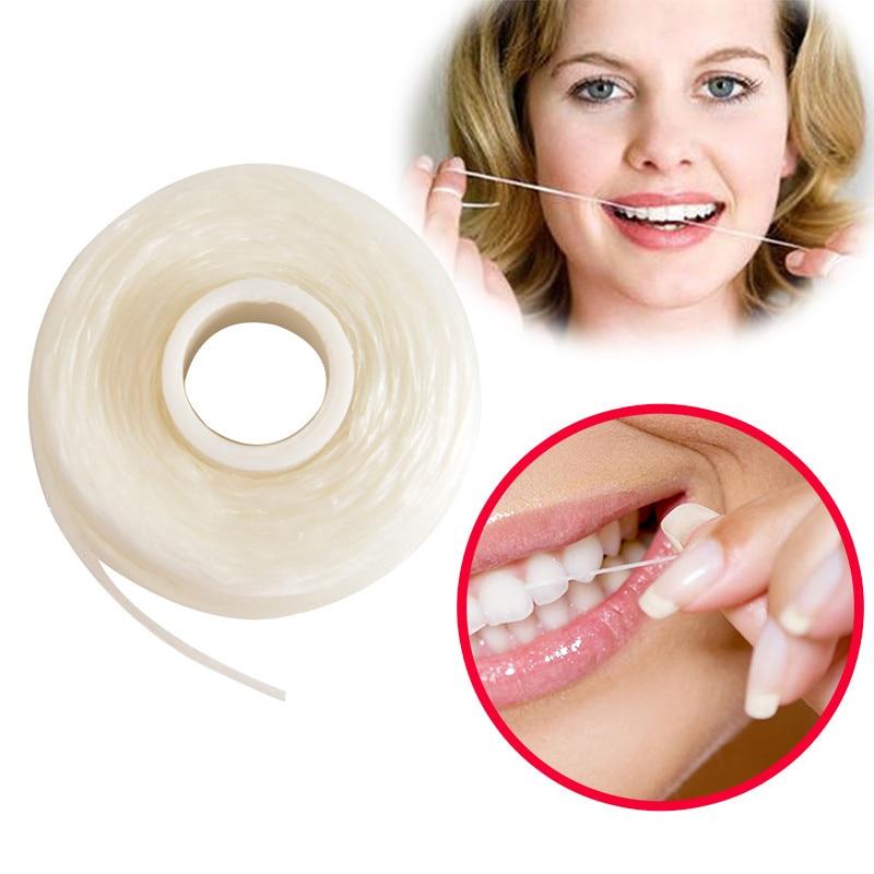 50 м портативная зубная нить Уход за полостью рта очиститель зубов с коробкой практичные гигиенические принадлежности для гигиены полости рта цвет случайный