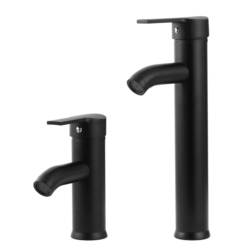 Single Handle Bathroom Basin Faucets Cold/Hot Mixer Basin Sink Tap Black Water Kitchen Faucet Bathroom Accessories
