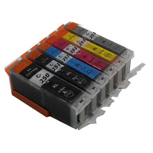 1 set For CANON PIXMA MG6320 MG7120 printer PGI-250 BK CLI-251 C M Y GY compatible ink cartridges 6 color full ink