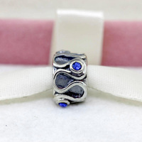PS176 hot sale Infinity Blue Quartz charms and Beads fit European Bracelet wholesale gift
