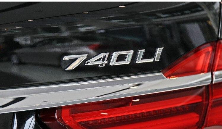 CHROME BMW 760Li REAR TRUNK LETTERS BADGE EMBLEM FOR BMW 7-SERIES 760Li