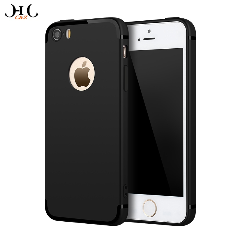 new photos 91837 cf651 HCCZ High quality Elegance Luxury TPU Matte soft Silicone case for Apple  iPhone 5 5s SE 6 6s 7 8 Plus X Full cover Phone case-in Fitted Cases from  ...
