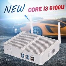 Мини-ПК шестого Поколения i3 6100U Кну Windows 10 Micro PC Barebone компьютер HD 520 Графика 4 К HTPC 300 М Wi-Fi Bluetooth VGA HDMI USB3.0