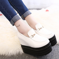 2017 New Sexy Platform Wedges Shoes Height Increased 13cm Women S Ultra High Heels Shoes Princess